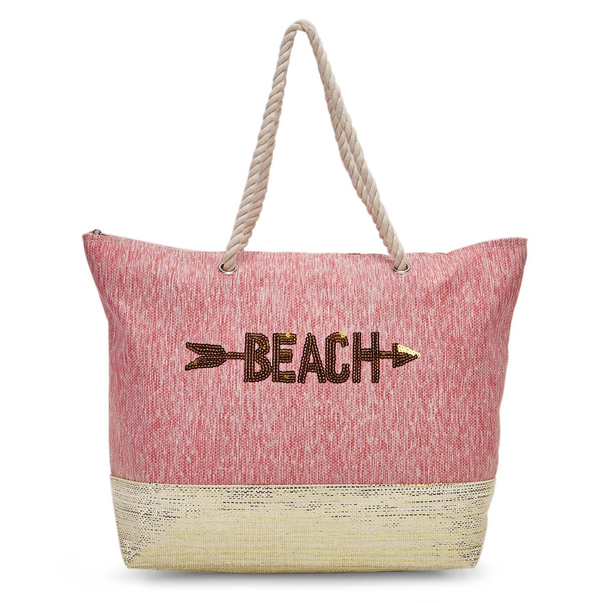 Lds red beach large tote hand bag