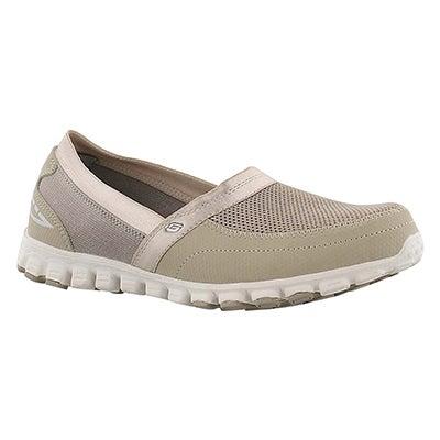 Skechers Women's TAKE IT EASY taupe slip on walking shoes