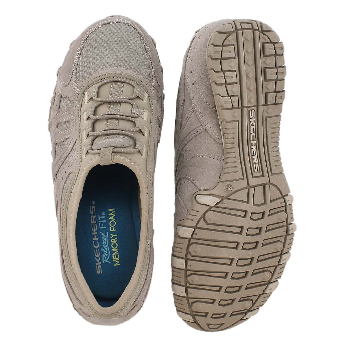 Lds Bikers tpe suede bungee slip on