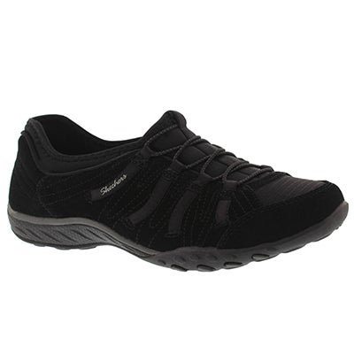 Skechers Women's BREATHE EASY BIG BUCKS black slip on