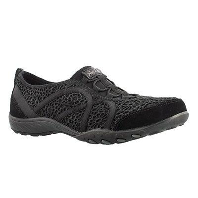 Lds Meadows black crochet bungee sneaker