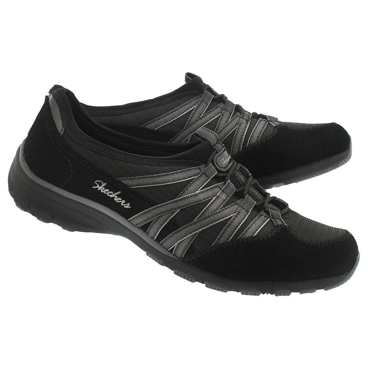 Lds Holding Aces blk/char slipon sneaker