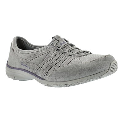 Skechers Women's HOLDING ACES grey/purple slip on sneakers