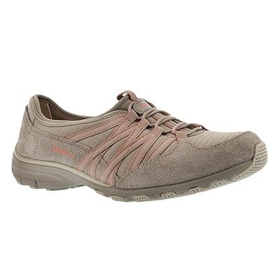 Skechers Women's HOLDING ACES taupe/crl slip on sneakers