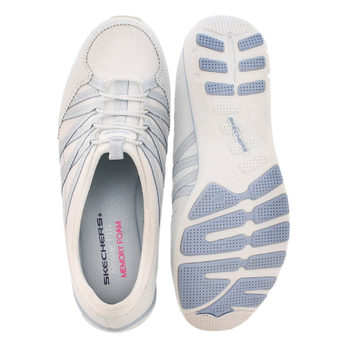 Lds Holding Aces wht/gry slipon sneaker