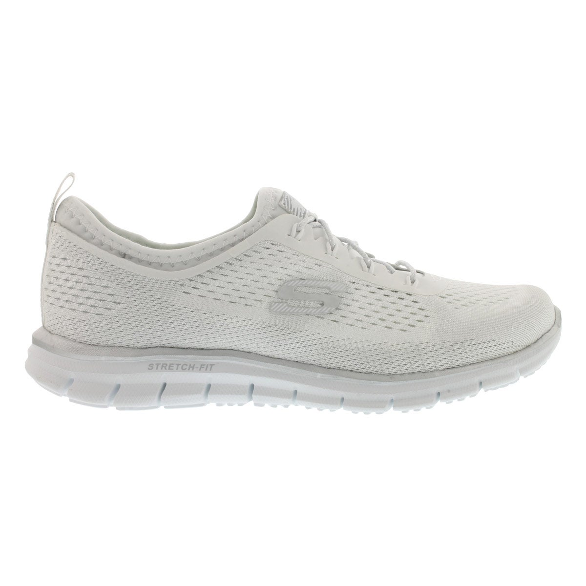 Lds Harmony white/silver bungee sneaker