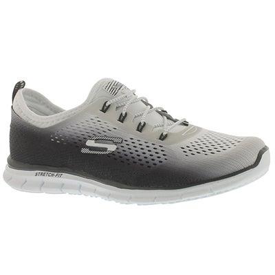 Skechers Women's FEARLESS black/white bungee sneakers