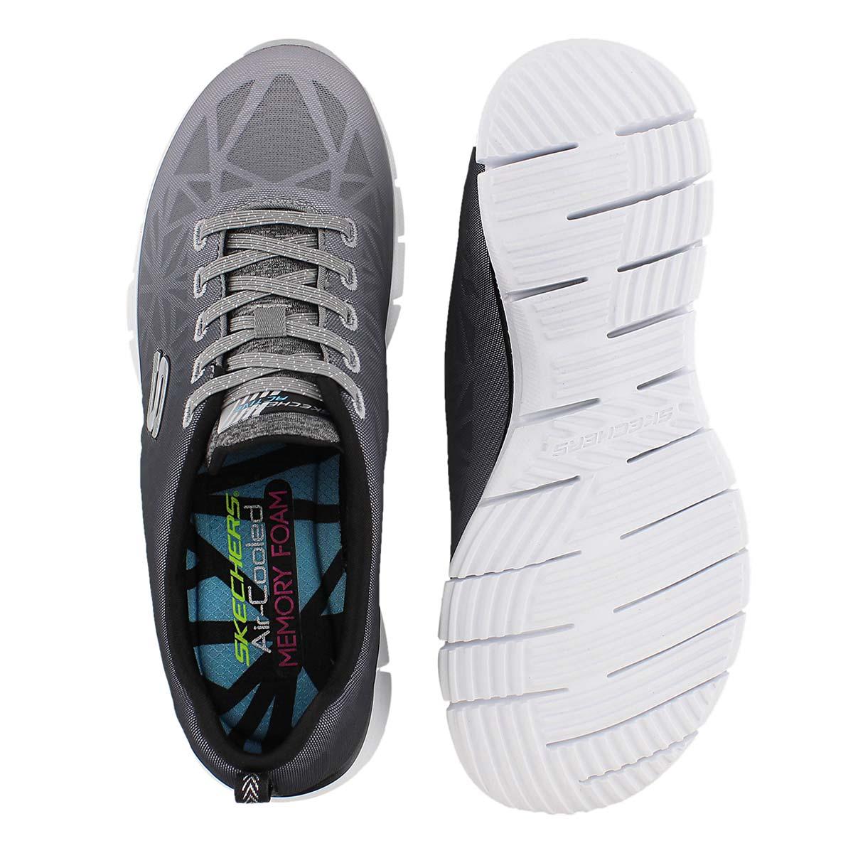 Lds Zealous blk/wht slipon sneaker