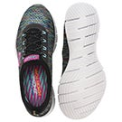 Lds Deep Space blk/multi slip on runner