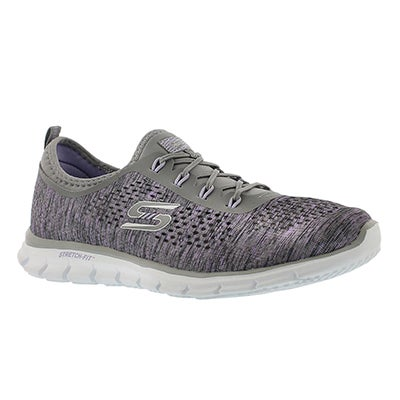 Skechers Women's DEEP SPACE grey/lavender slip on runners