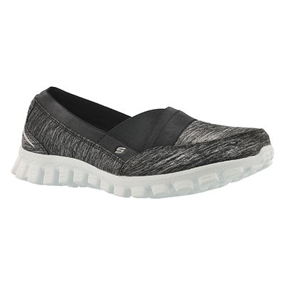 Skechers Women's FASCINATION blk/wht slip on walking shoes