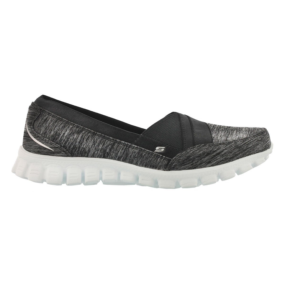Lds Fascination blk/wht slipon walking