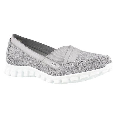 Skechers Women's FASCINATION gry/wht slip on walking shoes
