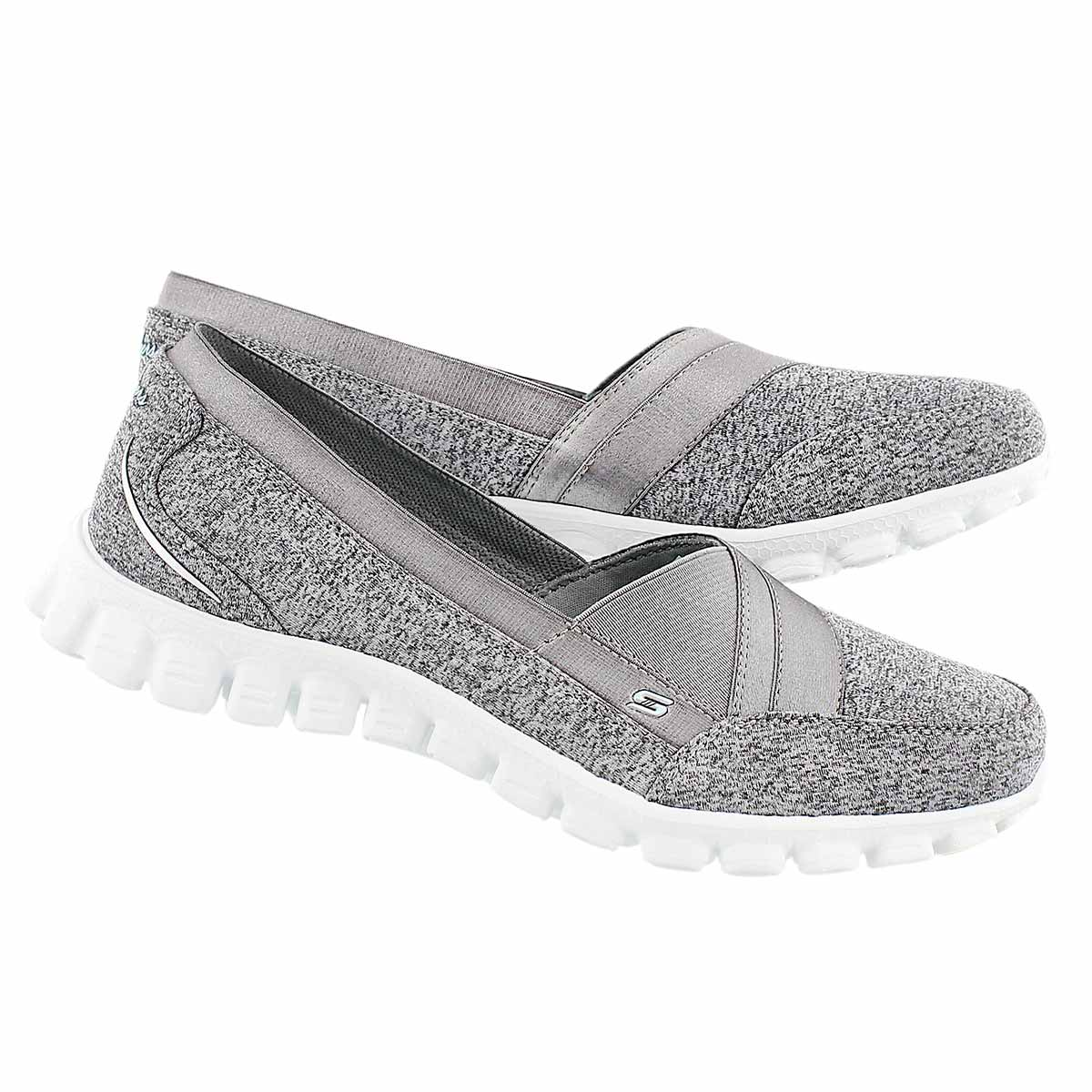 Lds Fascination gry/wht slipon walking