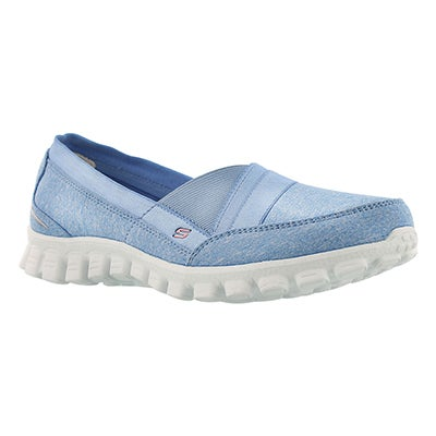 Skechers Women's FASCINATION lt blue slip on walking shoes