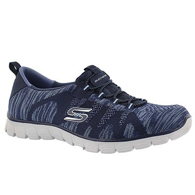 Skechers Women's TAKE-THE-LEAD navy sneakers