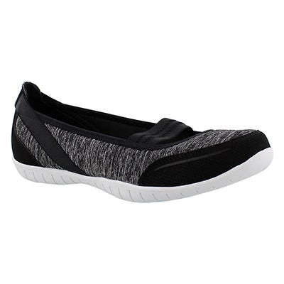 Skechers Women's Atomic MAGNETIZE black/white slip ons