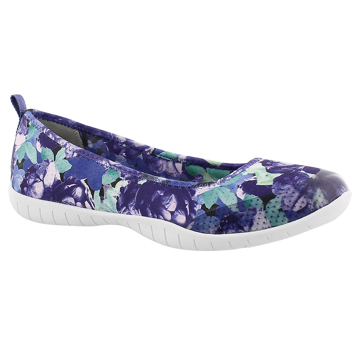Lds Sweet Bouquet purple ballerina flat