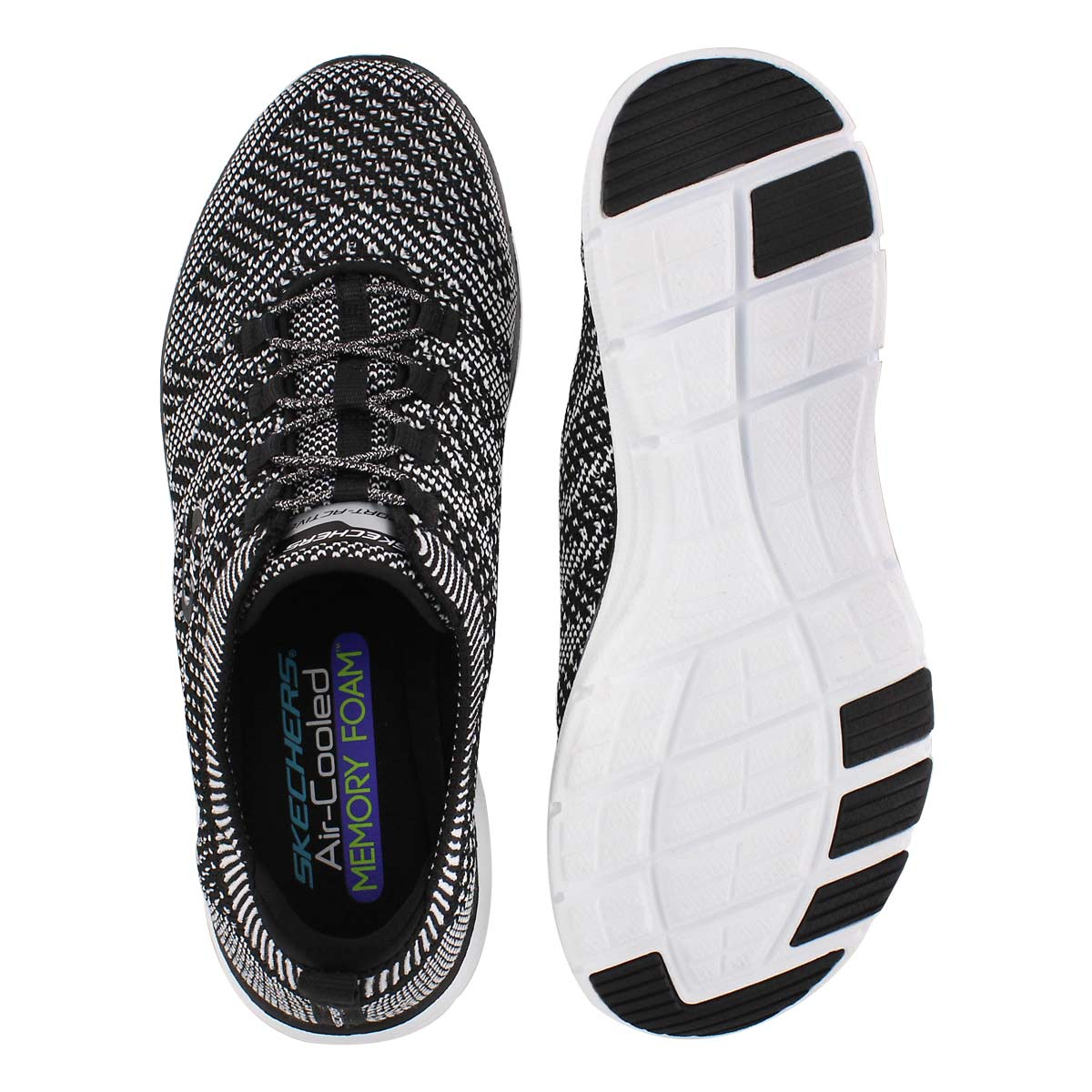 Lds Galaxies blk/wht bungee slip on snkr
