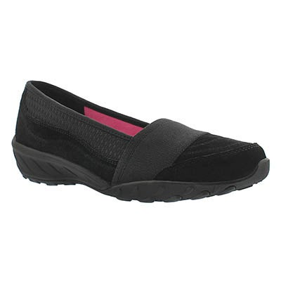 Lds Savvy black slip on casual shoe