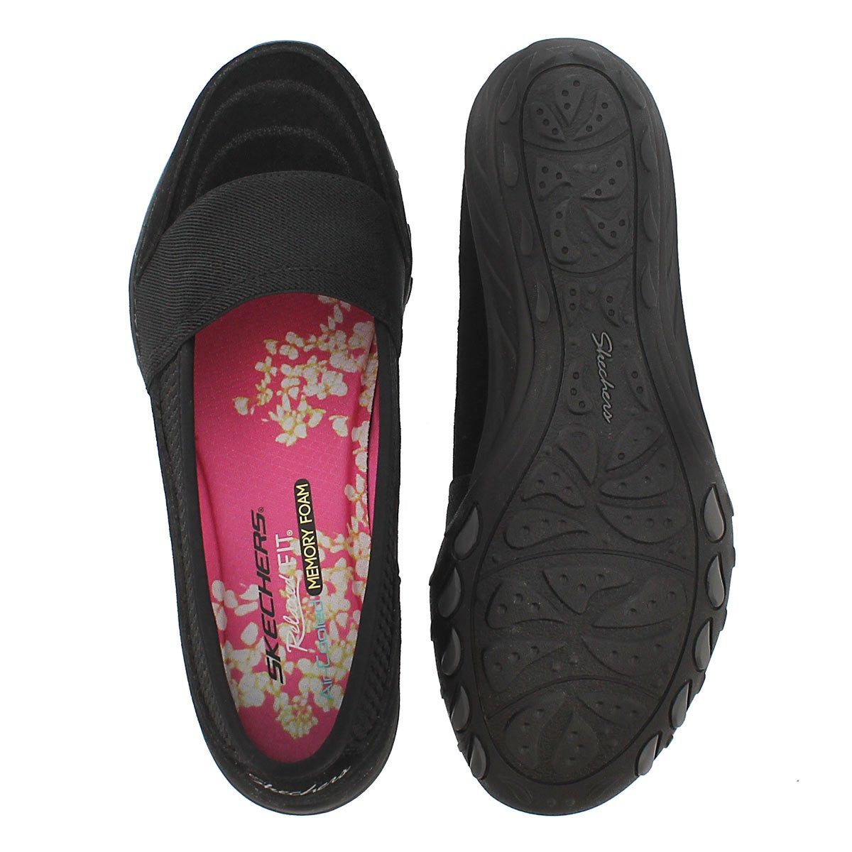 Lds Savvy black slip on casual shoe