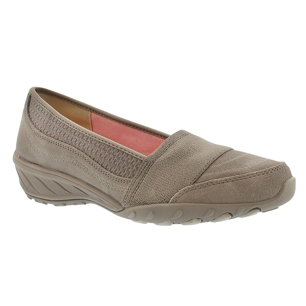 Lds Savvy taupe slip on casual shoe