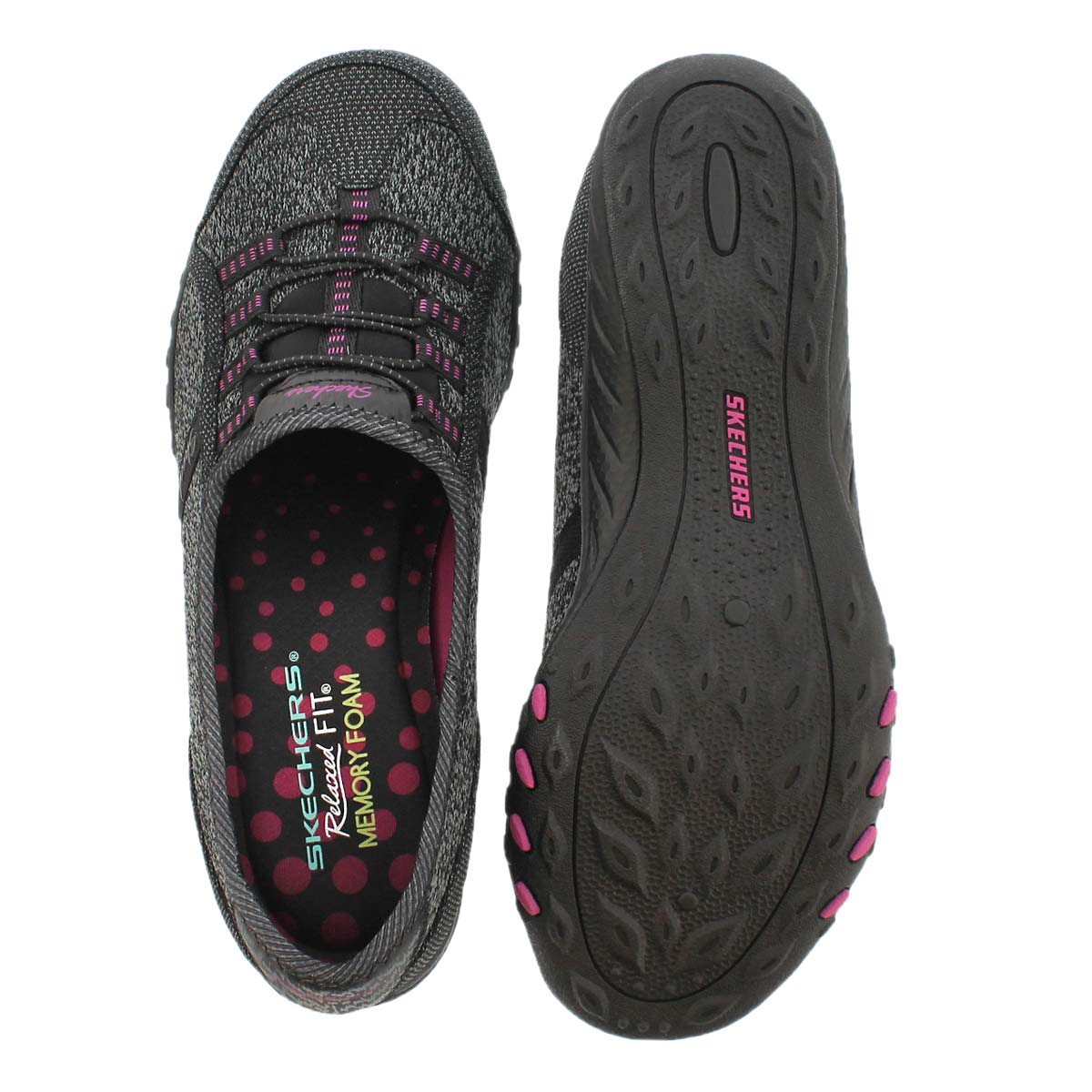 Espadrille Breathe-Easy, noir/rose, fem