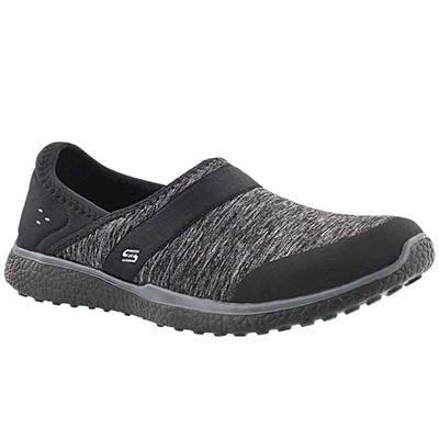 Lds Microburst blk slip on walking shoe