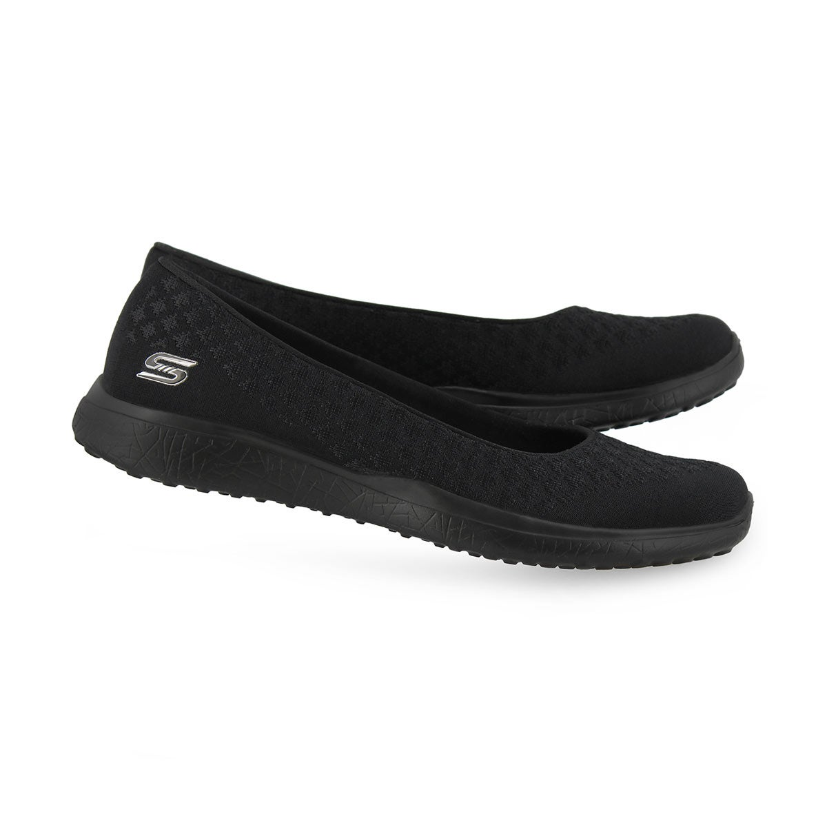 Lds Microburst One-Up blk flat shoe