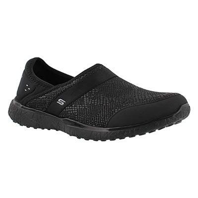 Lds Microburst blk snake slip on sneaker