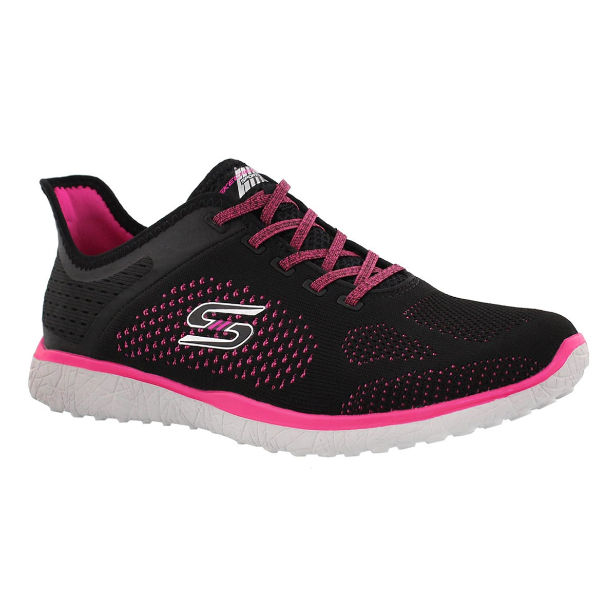 Women's MICROBURST SUPERSONIC blk/pnk sneakers