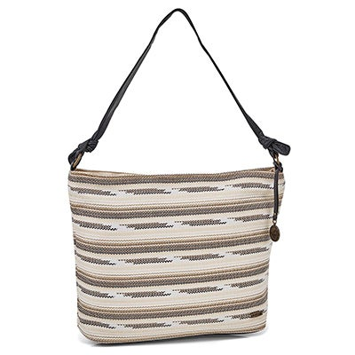 Lds Pushover tiger's eye crossbody tote