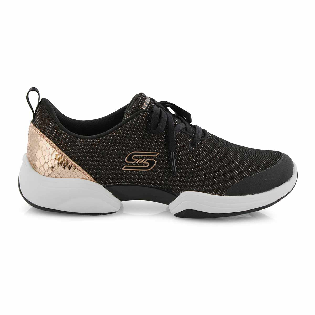 Lds Skech-Lab blk/rose slip on sneaker