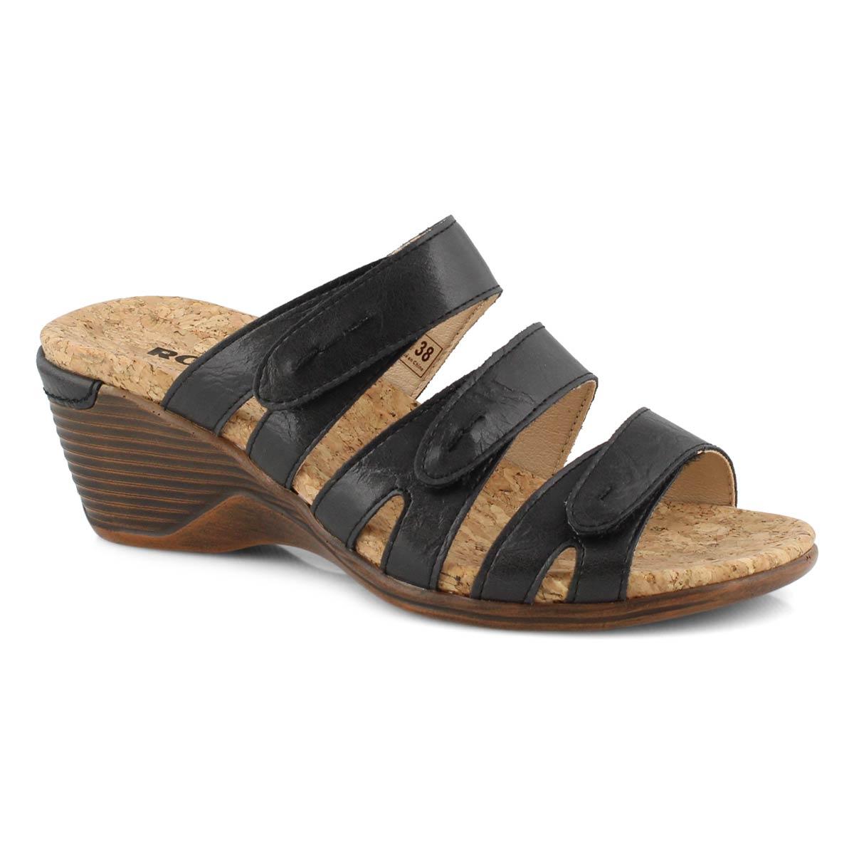 Lds Calgary 01 black wedge sandal