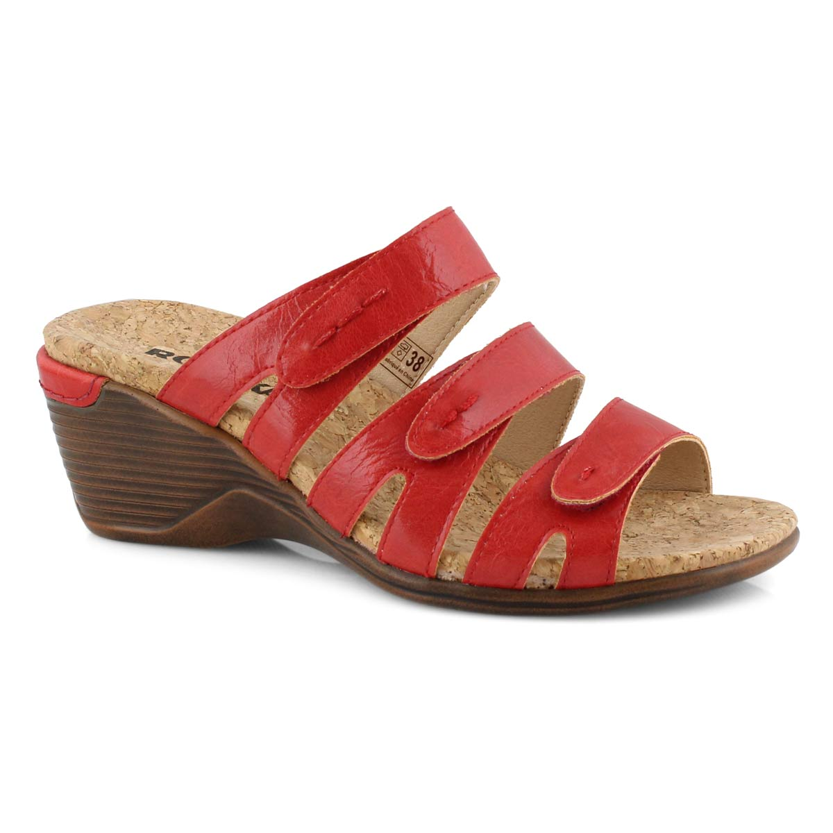 Lds Calgary 01 red wedge sandal