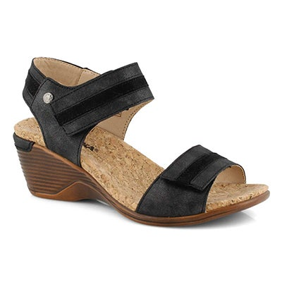 Lds Calgary 03 black wedge sandal