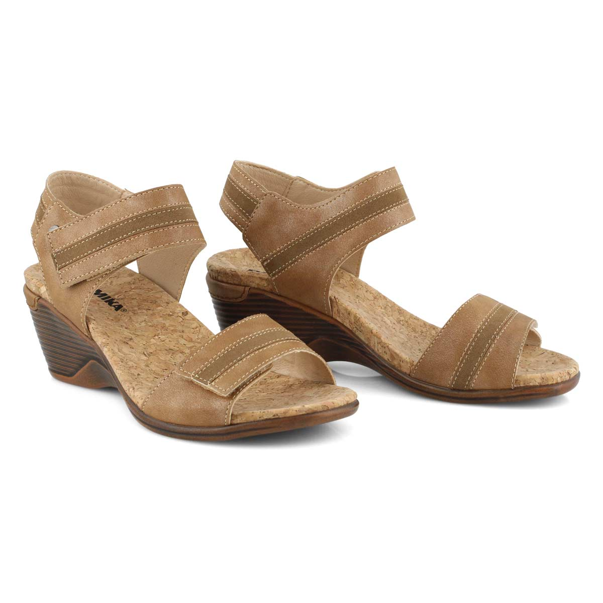 Lds Calgary 03 light tan wedge sandal