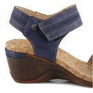 Sandale, Calgary 03 bleu, femmes