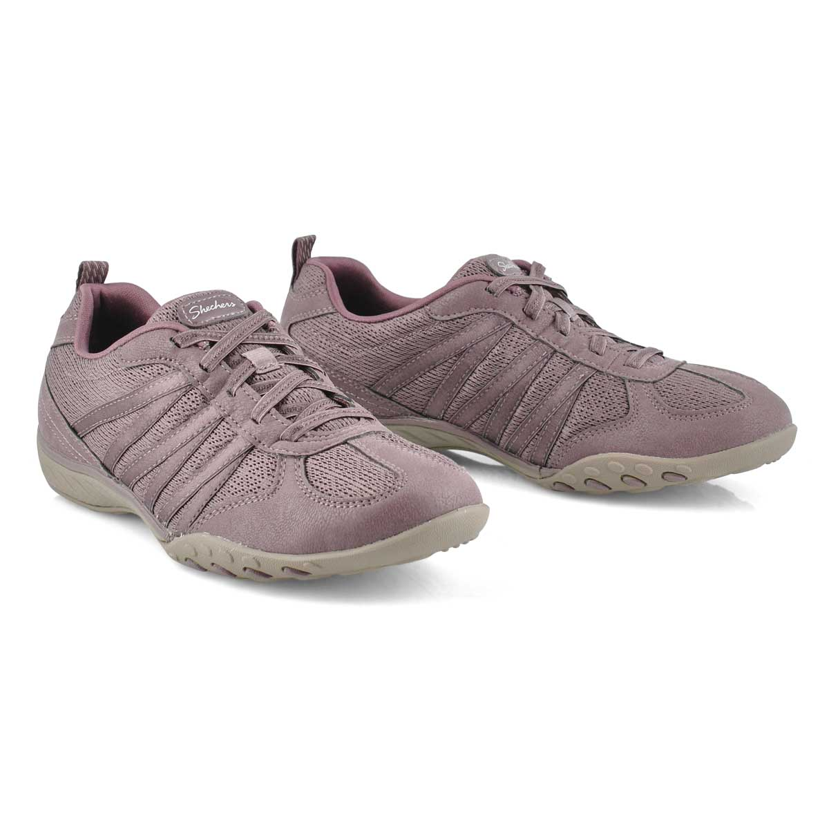 Lds Breathe-Easy mauve slip on snkr