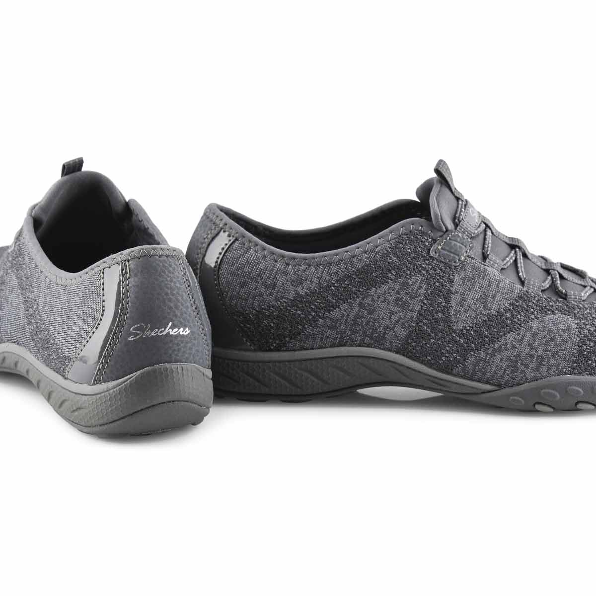 Lds Breathe-Easy charcoal slip on snkr