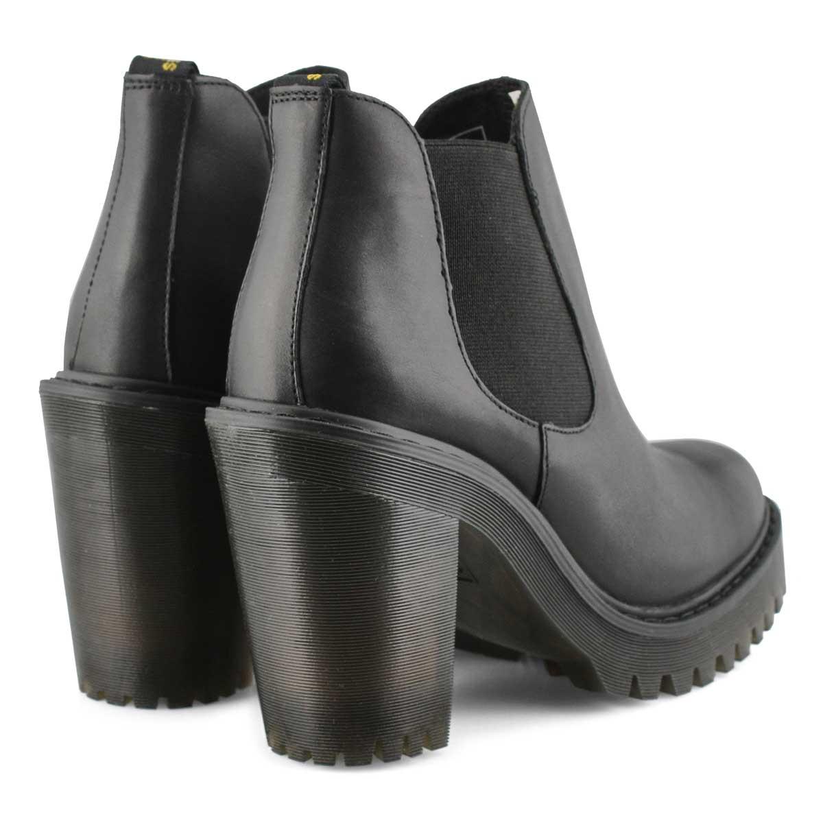 Lds Hurston black chelsea heel boot