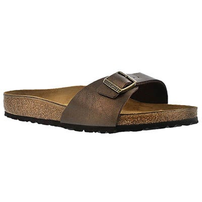 Birkenstock Women's MADRID toffee slide sandals