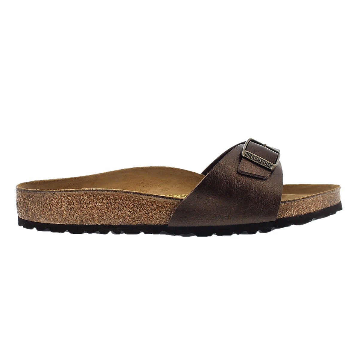Lds Madrid BF toffee 1 strap sandal