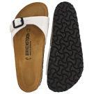 Lds Madrid white pat BF 1 strap sandal