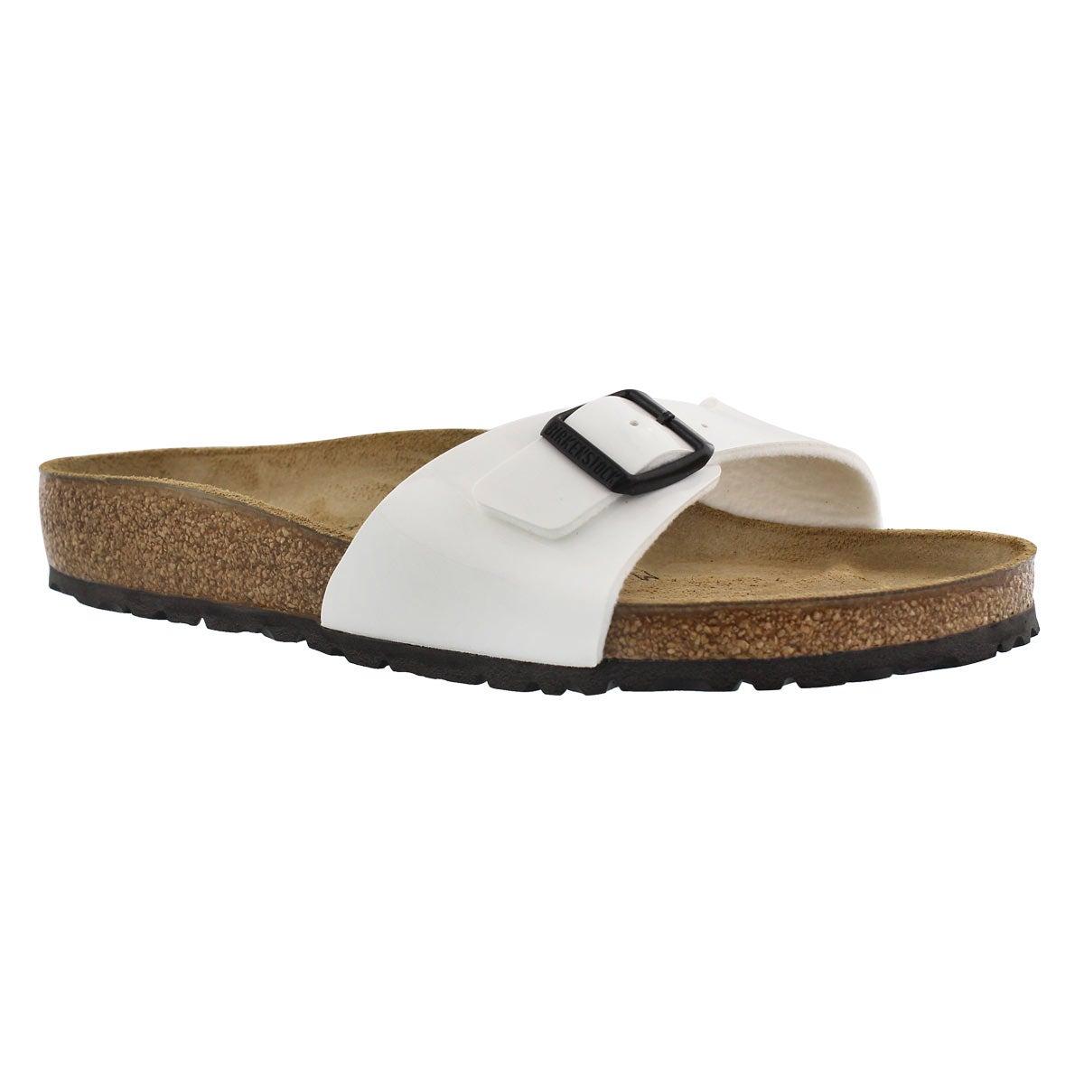 Women's MADRID white patent BF 1 strap sandals