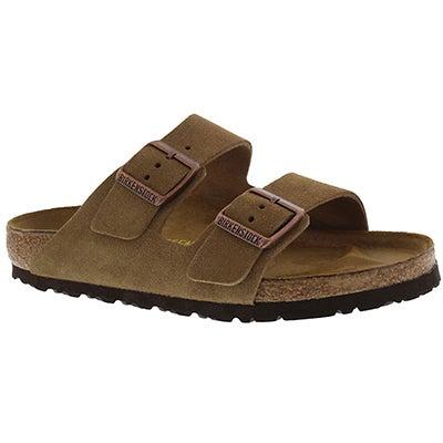 Birkenstock Men's ARIZONA brown 2 strap sandals