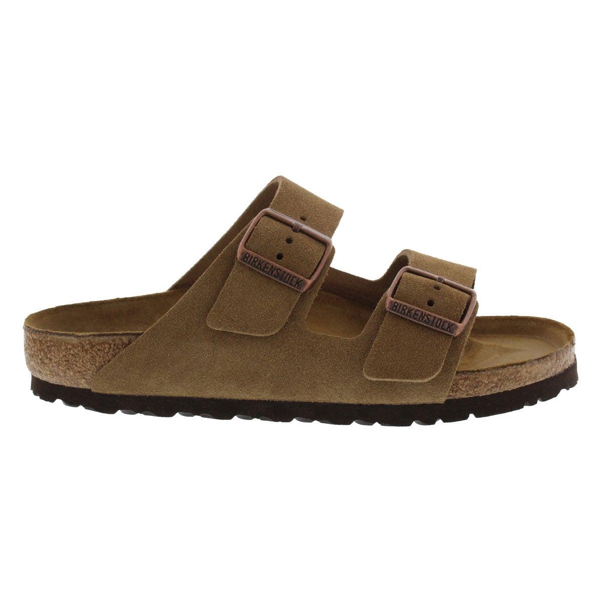 Mns Arizona brown suede 2 strap sandal