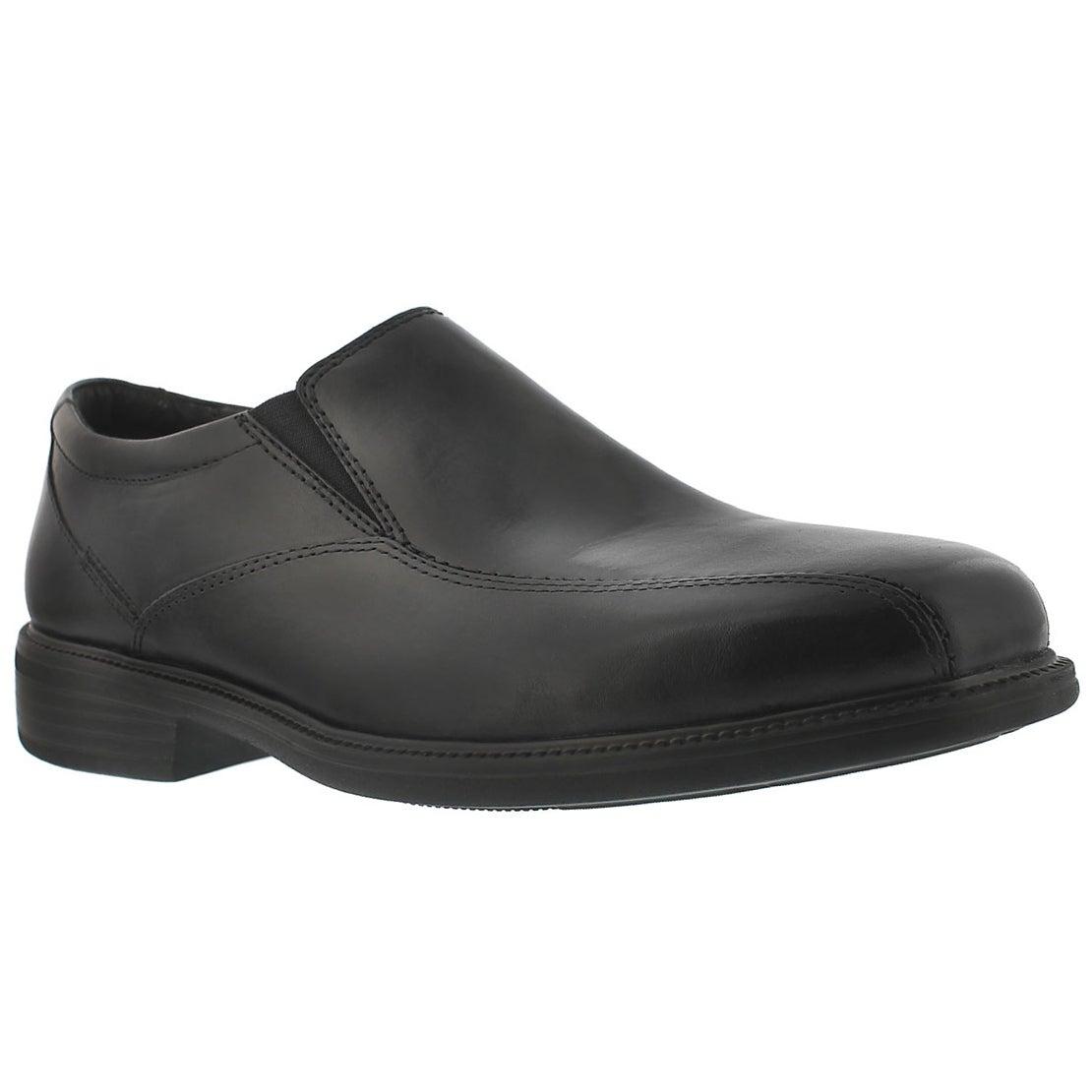 Men's BOLTON black dress slip-on shoes - Wide