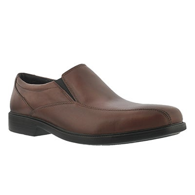 Bostonian Men's BOLTON brown dress slip-on shoes - Wide