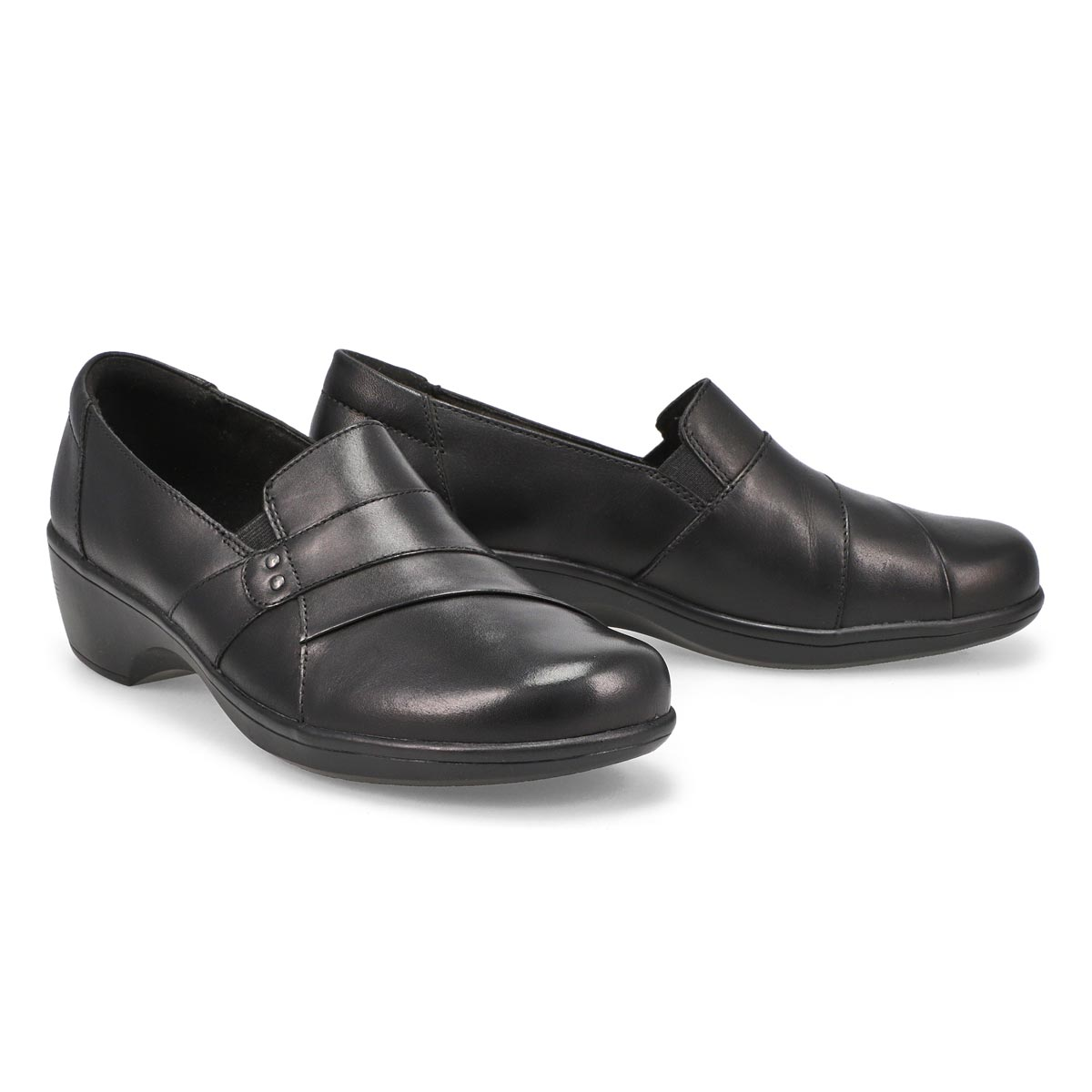 Lds May Marigold black dress loafer-WIDE
